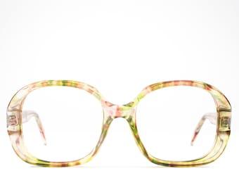 70s Eyeglasses | Vintage Glasses | Rainbow 1970s Glasses Frames | Seventies Deadstock Eyewear - Jessica
