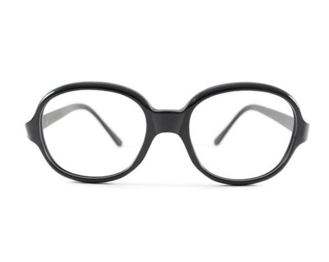 Vintage 1960s Spex Black Rounded Mod Eyeglass Frame