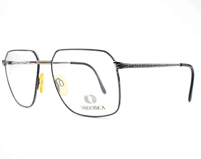 Vintage 80s Eyeglasses | Black and White Crackle Glasses | NOS 1980s Eyeglass Frame | Deadstock Eyewear - Down Under