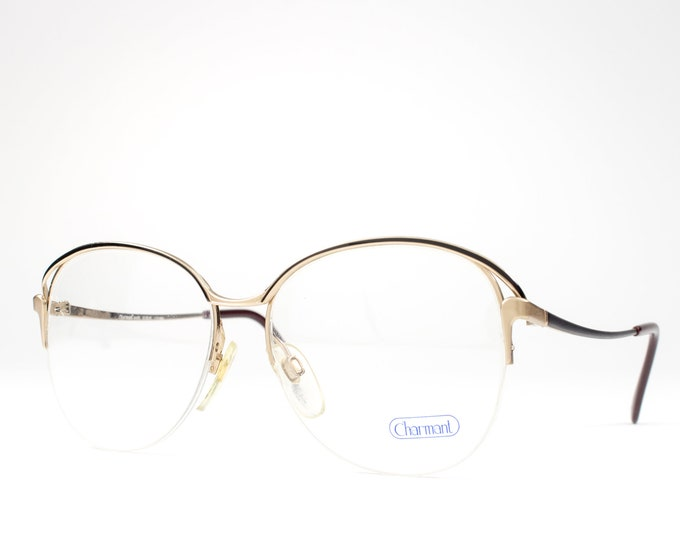 1980s Glasses | 80s Vintage Eyeglasses | Round Eyeglass Frame | Eighties Deadstock Eyewear - 4410