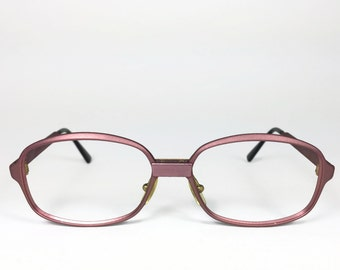 70s Vintage Eyeglasses   1970s Matte Purple Round Glasses   NOS Eyeglass Frame   Deadstock Eyewear - L4