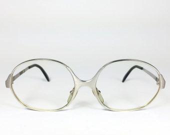 70s Vintage Eyeglasses   1970s Silver Round Glasses   NOS Eyeglass Frame   Deadstock Eyewear - 3961