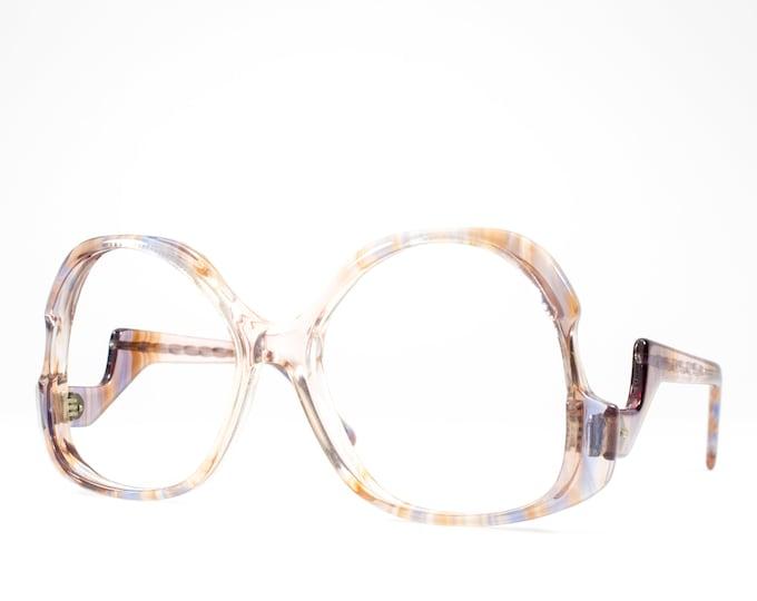 Retro Eyeglasses | Clear & Pink Vintage Eyeglasses Frames | 70s Eyeglass Frame - December