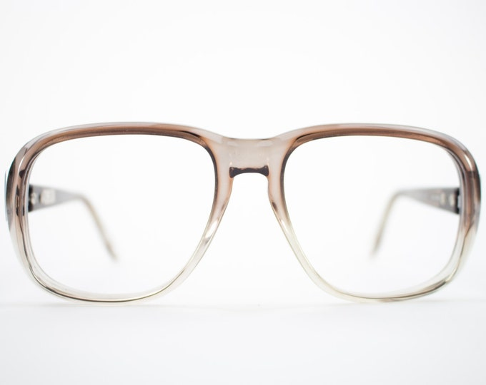 1970s Vintage Aviator Eyeglasses | Clear Grey 70s Aviator Glasses | NOS Eyeglass Frame | Deadstock Eyewear - Hanover Grey Fade