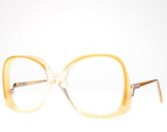 Vintage 80s Glasses | Big Eyeglasses | 1980s Oversized Glasses Frames | Cool Enamel Details - Biscayne 1