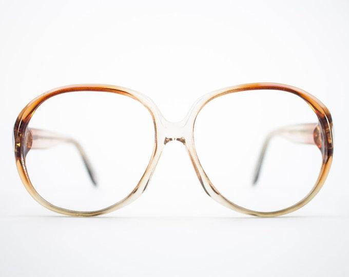 1970s Vintage Eyeglass Frame | Round Oversized 70s Glasses | Clear Amber Eyeglasses | Deadstock Eyewear - Atlanta 2