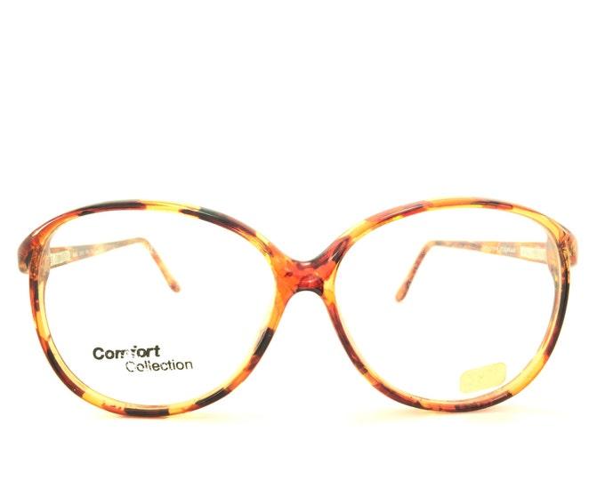 Vintage 80s Glasses | Oversized Round Eyeglass Frame with Demo Lenses | NOS 1980s Eyeglasses - 802