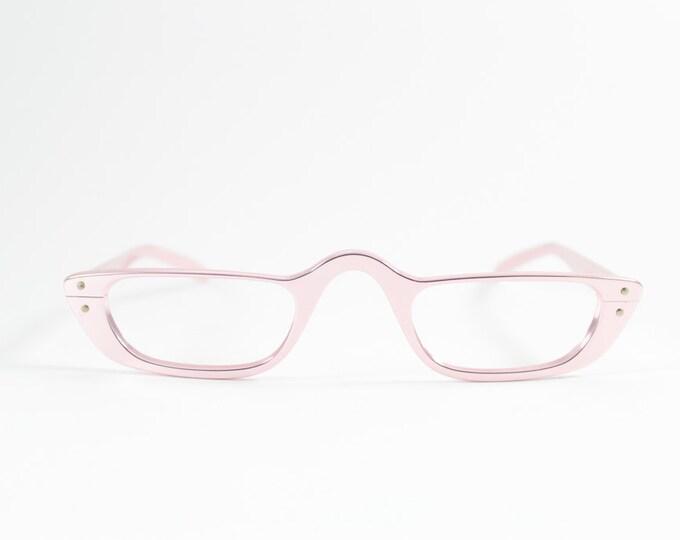 Vintage 1960s Metallic Pink Cateye Reading Eyeglass Frame