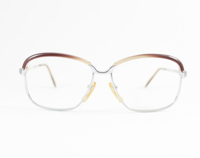 70s Vintage Eyeglasses   1970s Browline Round Glasses   NOS Eyeglass Frame   Deadstock Eyewear - Aline