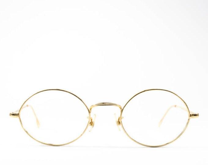 50s Vintage Eyeglasses | 1950s Glasses Frames | Vintage Round Glasses | Gold Wire Rim Eyeglass Frame | Made in France - Franco