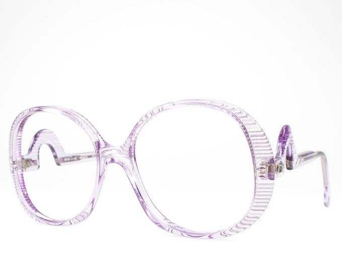 1970s Eyeglasses | Vintage Glasses | Oversized 70s Glasses Frames | Seventies Deadstock Eyewear - Grenoble Purp