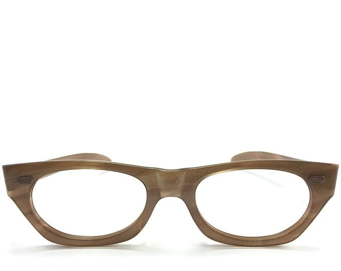 60s Vintage Eyeglasses | American Optical Shimmering Clear Horn-Rimmed Glasses | NOS Eyeglass Frame | Deadstock Eyewear - Sun Chic