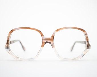 Vintage 70s Glasses | Clear Tortoiseshell Round Eyeglass Frame |  NOS 1970s Eyeglasses | Deadstock Eyewear - Colossal Caviar