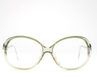 Vintage 1980s Glasses | Clear Green Eyeglasses | Round 80s Eyeglass Frame - Hyatt 6