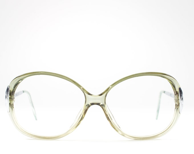 Vintage 1980s Glasses | Clear Green Eyeglasses | Round 80s Eyeglass Frame - Hyatt 6