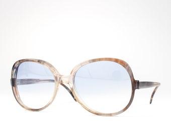 Vintage 70s Sunglasses   1970s Sunglasses   Oversized Glasses Frames   Seventies Deadstock Eyewear - Gloria