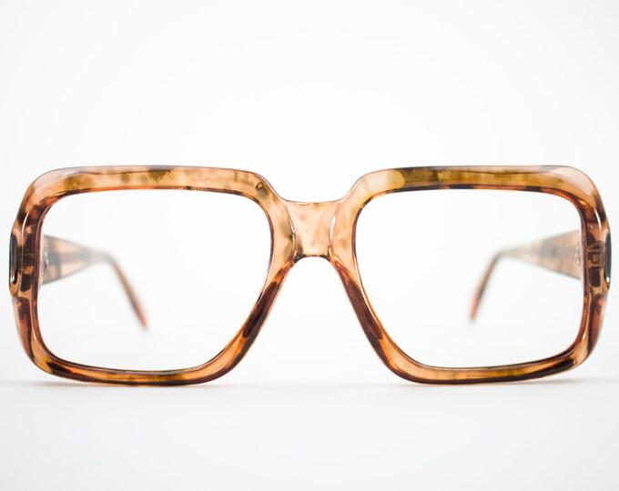 Vintage 1970s Glasses | Clear Tortoiseshell Eyeglasses | NOS 1970s Square Eyeglass Frame | Vintage Deadstock Eyewear  - Denver Tortoiseshell