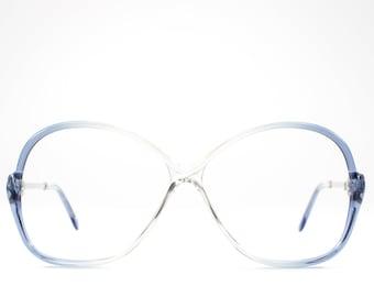 1980s Eyeglasses | Vintage 80s Glasses | Oversized Eyeglass Frame | Eighties Deadstock Eyewear - July Blue