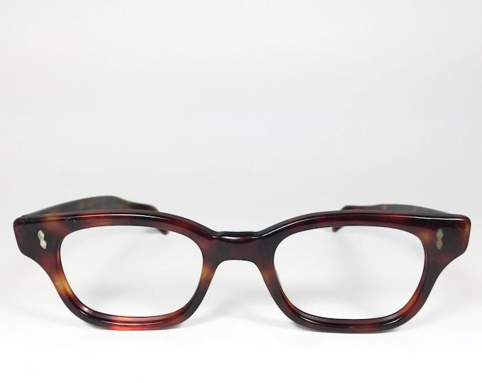 Vintage 1960s Shuron Tortoiseshell Horn-Rimmed Eyeglass Frame  - Rex