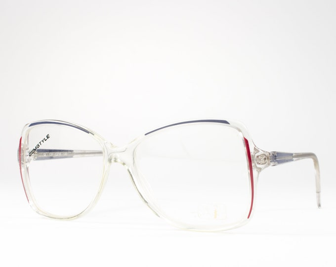 80s Vintage Glasses | 1980s Eyeglasses | Clear Glasses Frames | Eighties Deadstock Eyewear - Cellidor 218