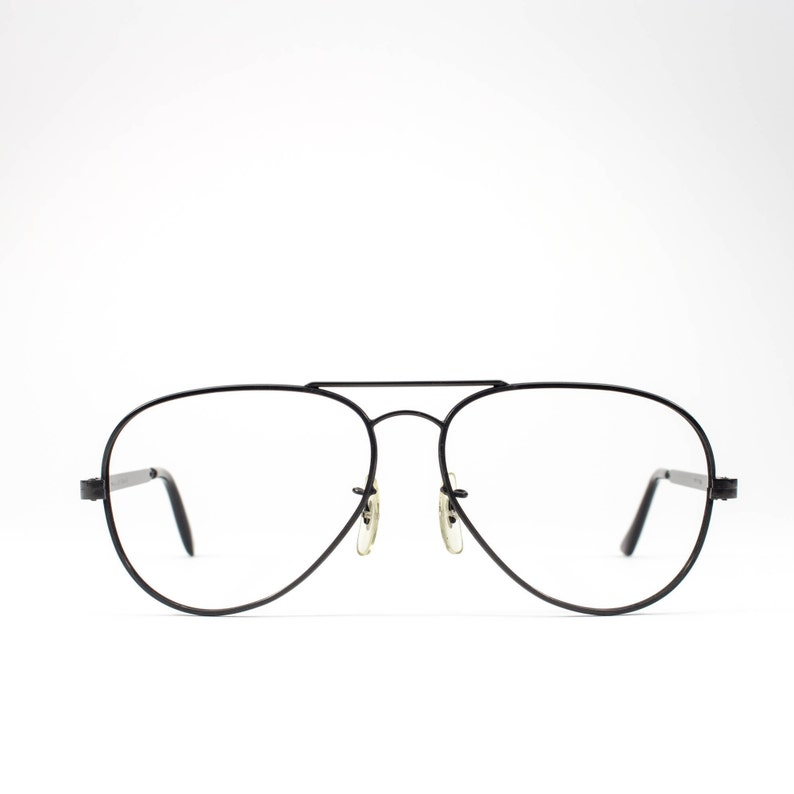 cadb7c477278b 1980s Eyeglass Frame Aviator Glasses 80s Vintage Eyeglasses
