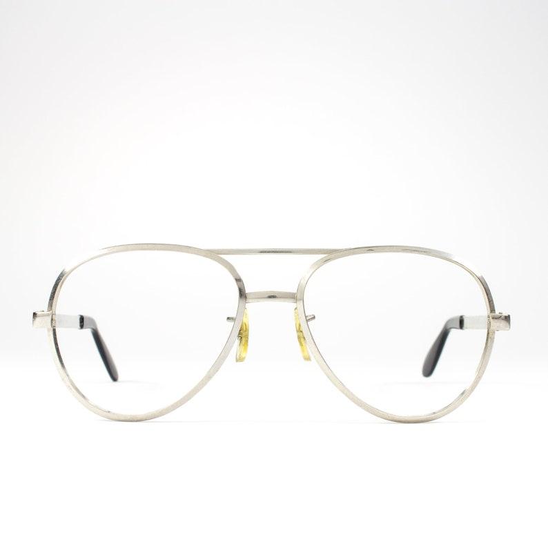 c56b384556 Silver 70s Glasses 1970s Vintage Eyeglasses Aviator
