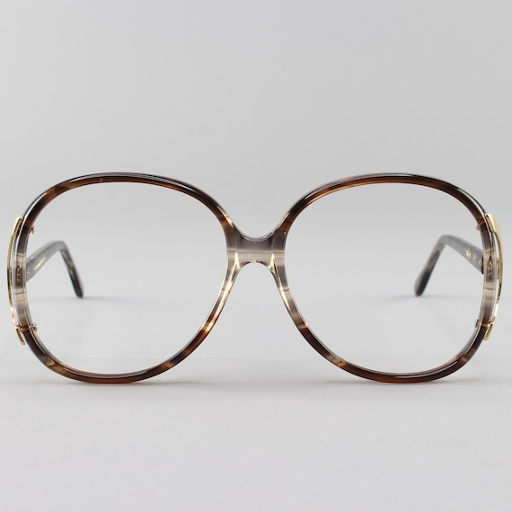 80s Glasses | Oversized Vintage Eyeglasses | 1980s Glasses Frames | Brown Clear Eyeglass Frame - Regal