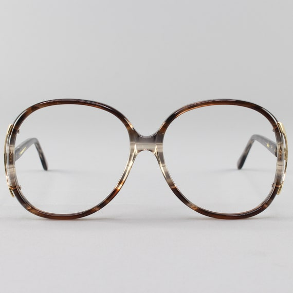 80s Glasses | Oversized Vintage Eyeglasses | 1980s Glasses Frames | Brown Clear Eyeglass Frame | Deadstock Eyewear - Regal