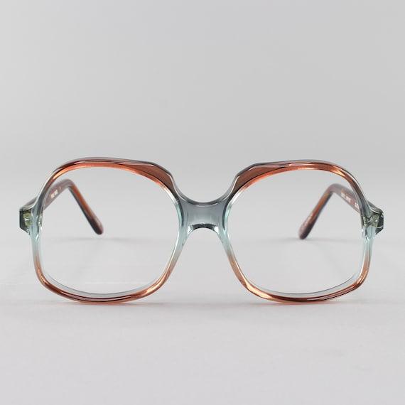 70s Glasses | Vintage Oversized Round Eyeglasses | 1970s Eyeglass Frame | Deadstock Eyewear - Kathleen