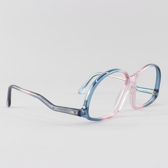 Vintage Eyeglasses | Deadstock 70s Glasses | Clear Blue & Pink Glasses Frames - M20-4