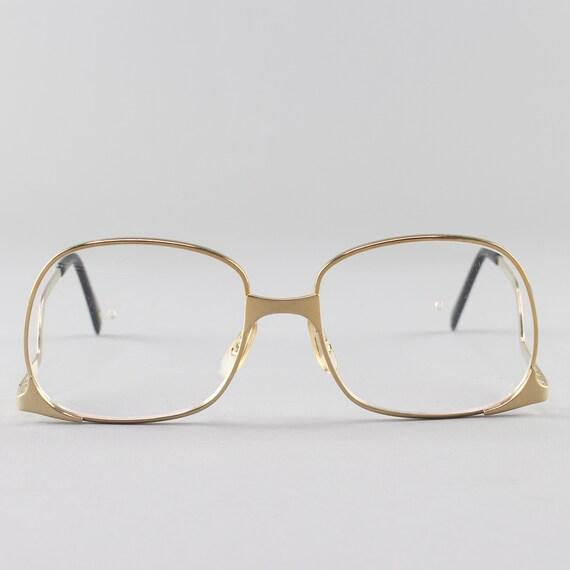 Vintage 70s Glasses | Gold Eyeglass Frame | 1970s Round Eyeglasses - Whet Gold