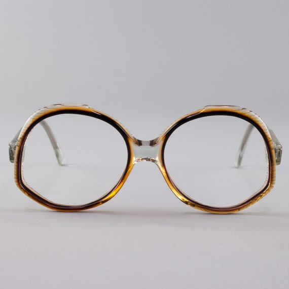 Vintage Eyeglasses | Black and Orange Glasses | 70s Oversized Eyeglass Frames - Ravenna 3