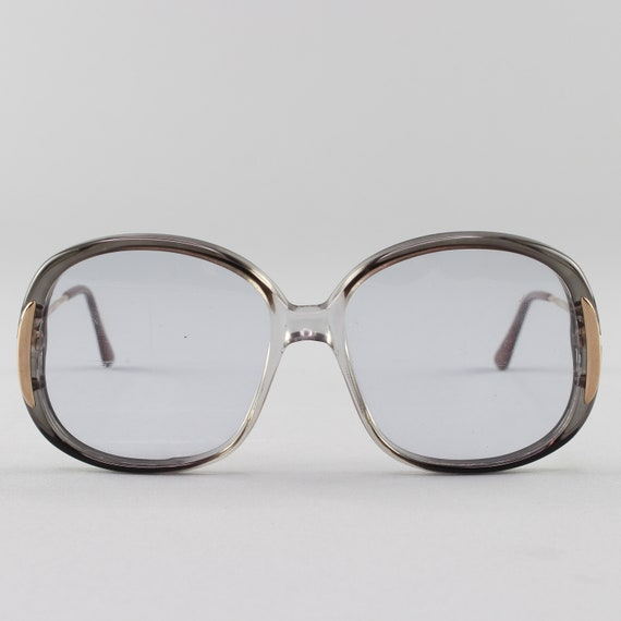 Vintage Eyeglasses | Clear Gray Eyeglass Frame | Round 70s Glasses - Maria 7