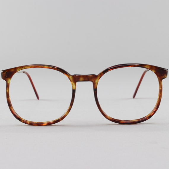 80s Vintage Glasses | Tortoiseshell Round Eyeglass Frame | 1980s Eyeglasses - March Tort