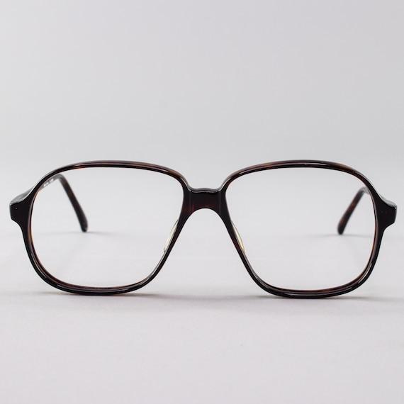 80s Vintage Glasses | Oversized Dark Tortoiseshell Eyeglass Frame | 1980s Eyeglasses - Pisa 3627