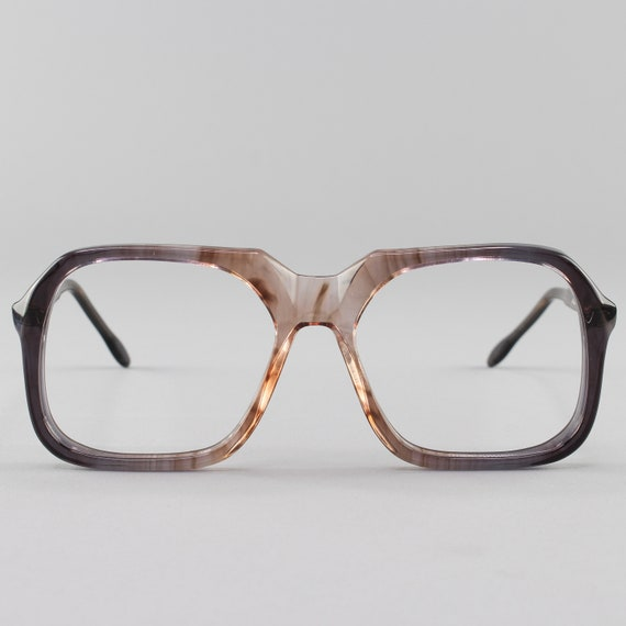 70s Glasses | Smoky Gray Eyeglass Frame | Vintage Eyeglasses | Deadstock Eyewear  - Tony 1108