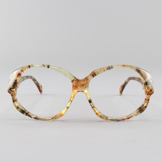 80s Vintage Eyeglasses | Yellow Oversized Round Glasses | 1980s Eyeglass Frame | Deadstock Eyewear - Odile Olea