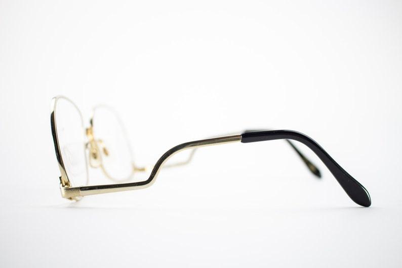 741c214b7d7 Vintage 70s Glasses Gold Oversized Eyeglass Frame with Demo