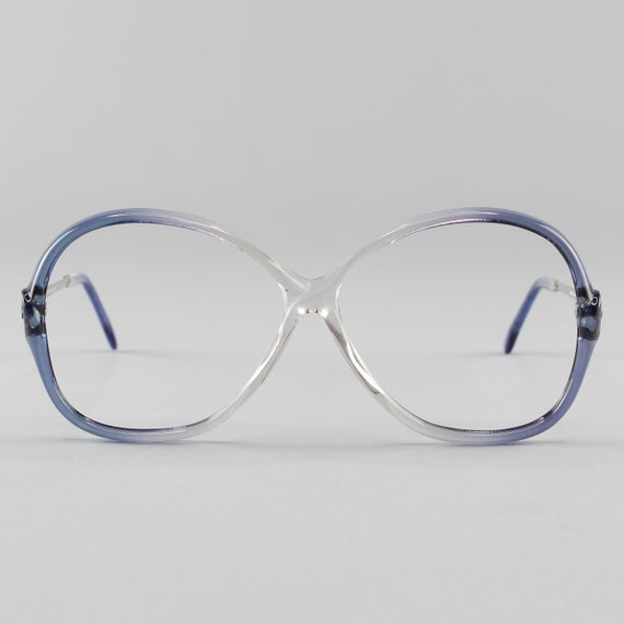 80s Eyeglasses | Vintage Glasses | Clear Blue Eyeglass Frame | 1980s Aesthetic Frames - July Blue