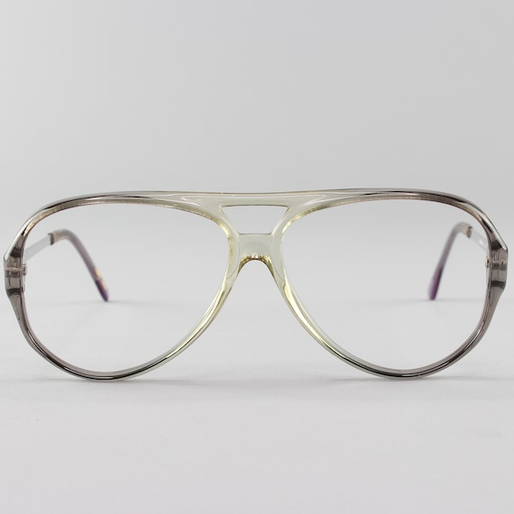 80s Vintage Eyeglasses | Vintage Glasses Frames | Clear Gray Eyeglass Frame - January Gray