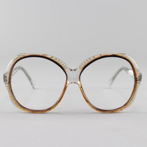 Vintage Eyeglasses |  Oversized Round 70s Glasses | 1970s Eyeglass Frame | Deadstock Vintage Eyewear - Torino 3