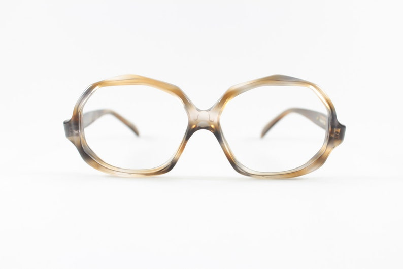 9eee81c6dab84 70s Vintage Eyeglasses Safilo Clear Brown Glasses