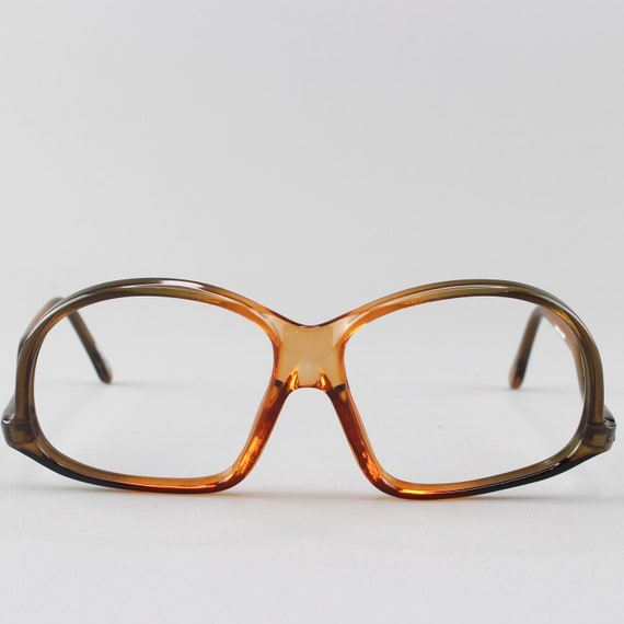 Vintage Eyeglasses | 70s Glasses | Clear Brown Glasses Frames | 1970s Aesthetic - M20-1
