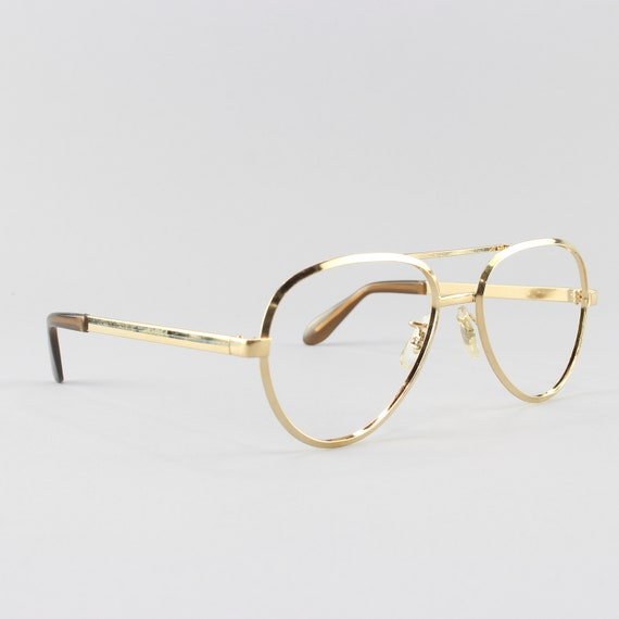 70s Glasses | Vintage Aviator Frames | 1970s Eyeglasses | Gold Eyeglass Frame - Dash Gold