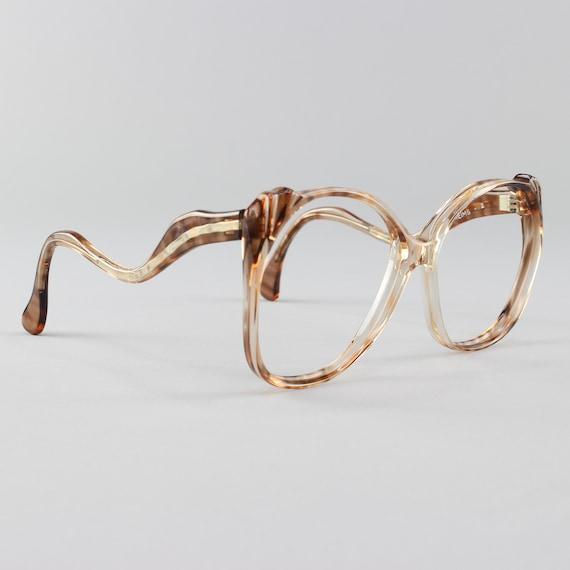 Vintage Eyeglasses   Oversized 70s Glasses Frame   Clear Tortoiseshell   Deadstock Eyewear - Reims 2