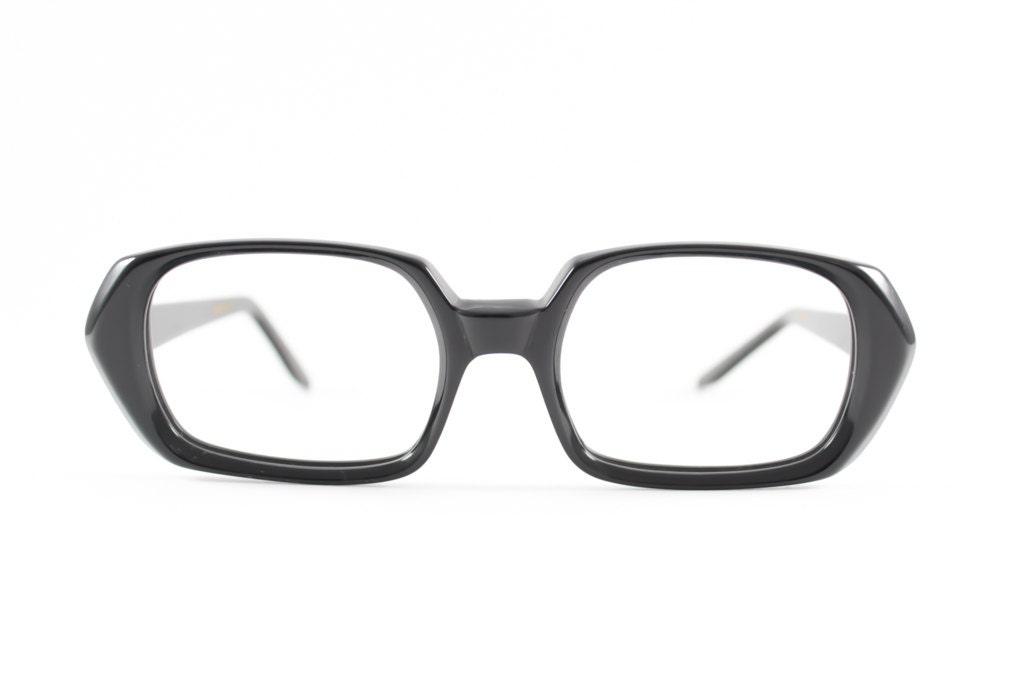 60er Jahre Vintage Brillen 1960er Jahren schwarze Hornbrille | Etsy