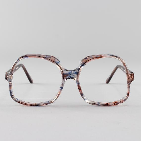 Vintage Eyeglasses | Oversized Round 70s Glasses | 1970s Eyeglass Frame | Deadstock Eyewear - Kathleen
