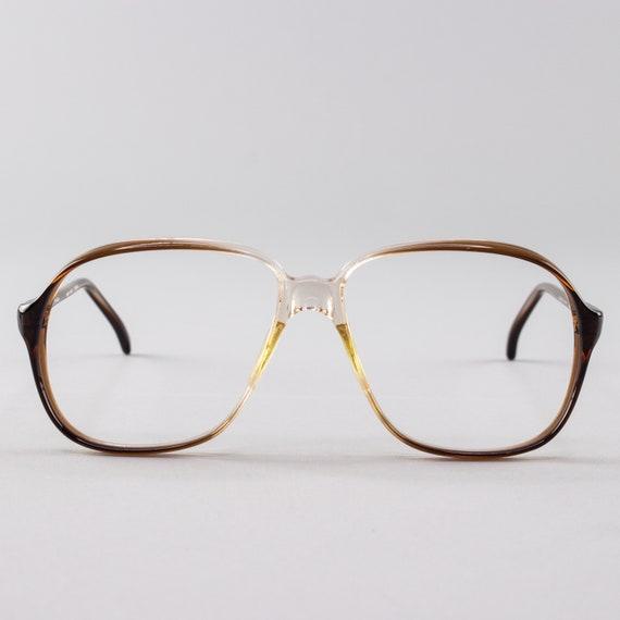 80s Vintage Eyeglass Frame | Clear Brown Glasses | NOS 1980s Glasses Frames - Pisa 9912