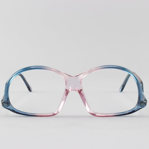 Vintage Eyeglasses | Deadstock 70s Glasses | Clear Blue & Pink Glasses Frames - M20-4