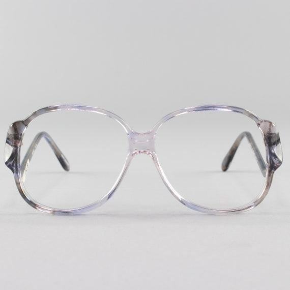 70s Vintage Glasses | Clear Oversized Eyeglasses | Round Eyeglass Frame | Deadstock Eyewear  - Riga 4